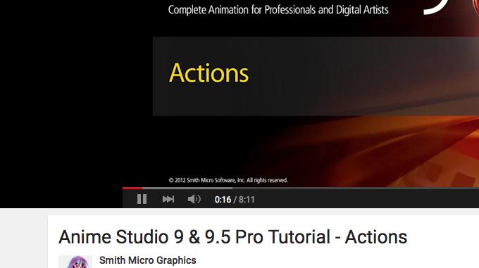 ▶ Anime Studio 9 & 9.5 Pro Tutorial – Actions – YouTube